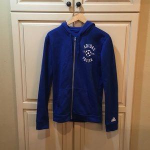 Adidas soccer hoodie sweatshirt s
